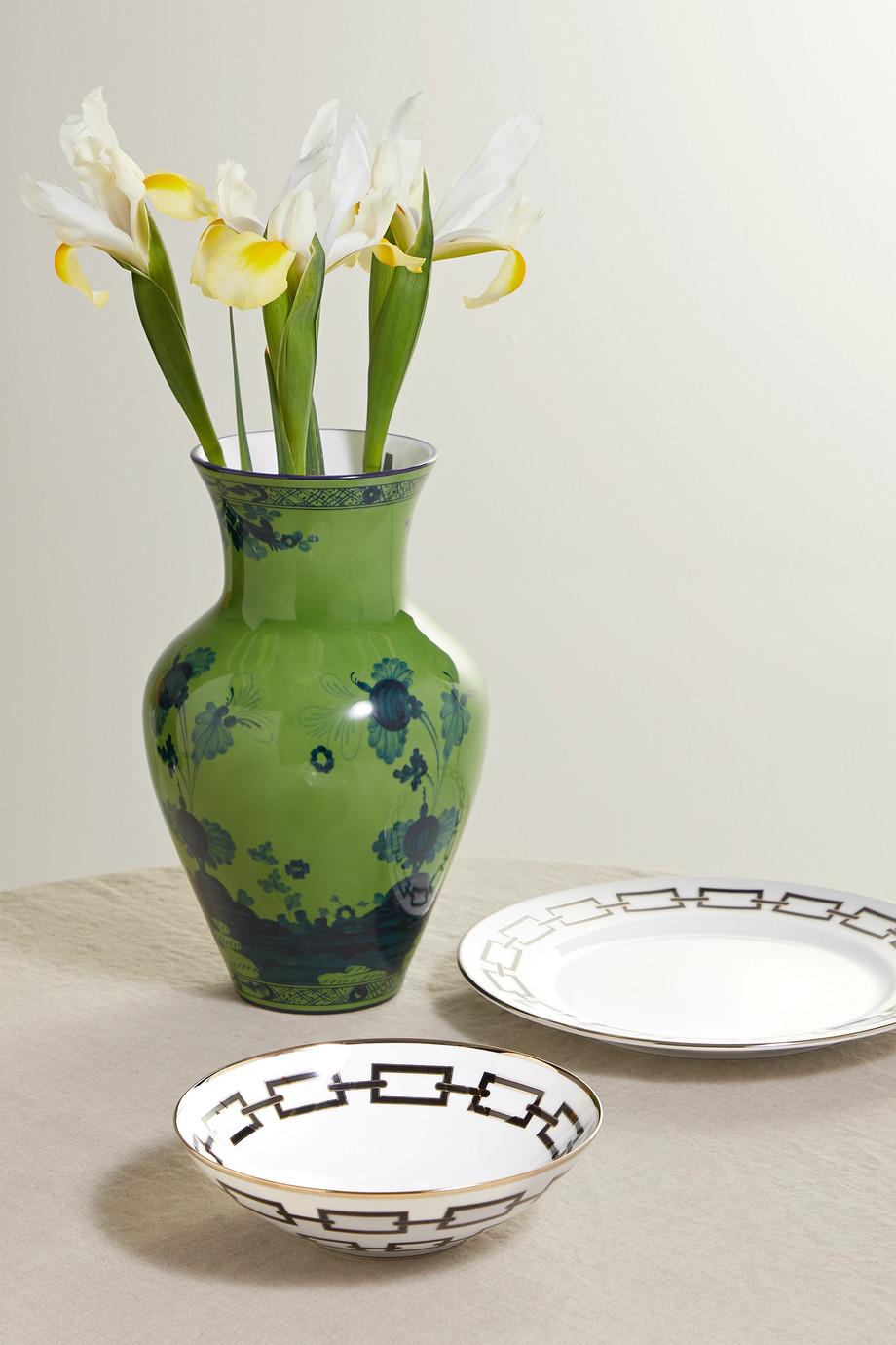 Ginori Catene 20 cm Schale aus Porzellan mit vergoldeten Details
