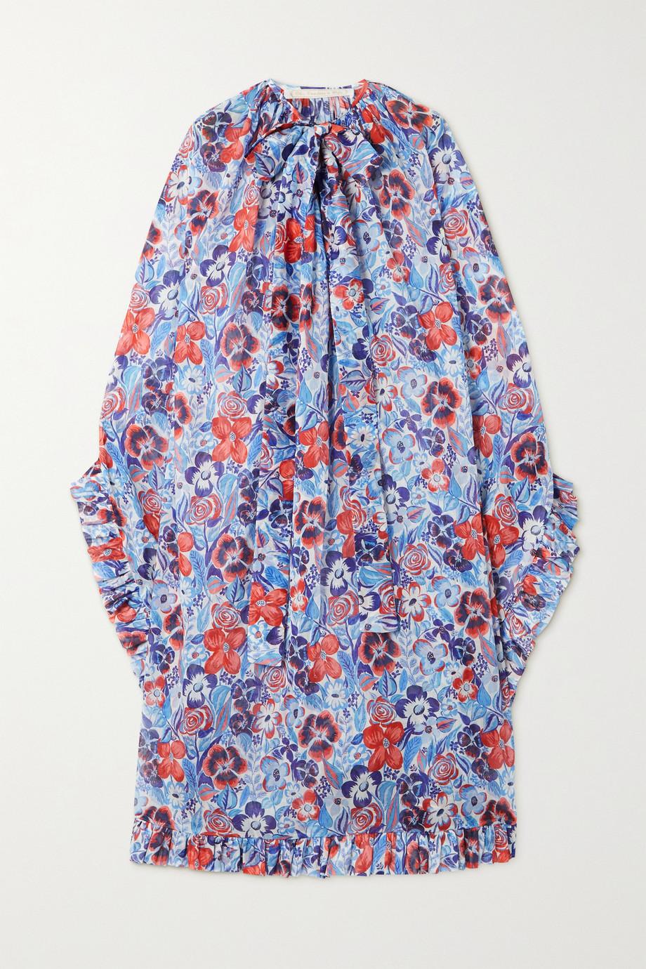 The Vampire's Wife Robe midi en coton à imprimé fleuri et à volants The Peacemaker