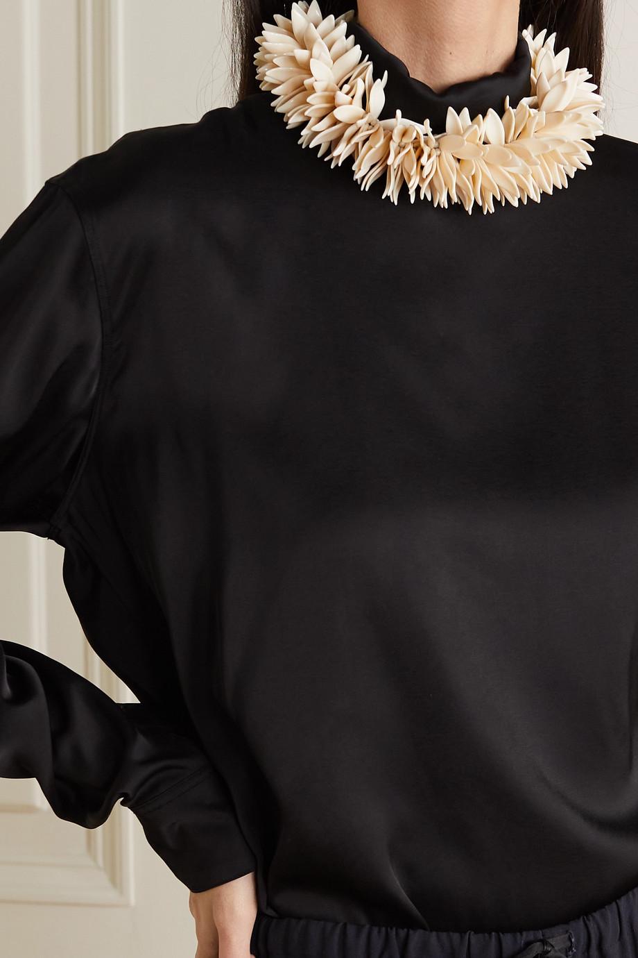 Dries Van Noten Beaded silver-tone necklace