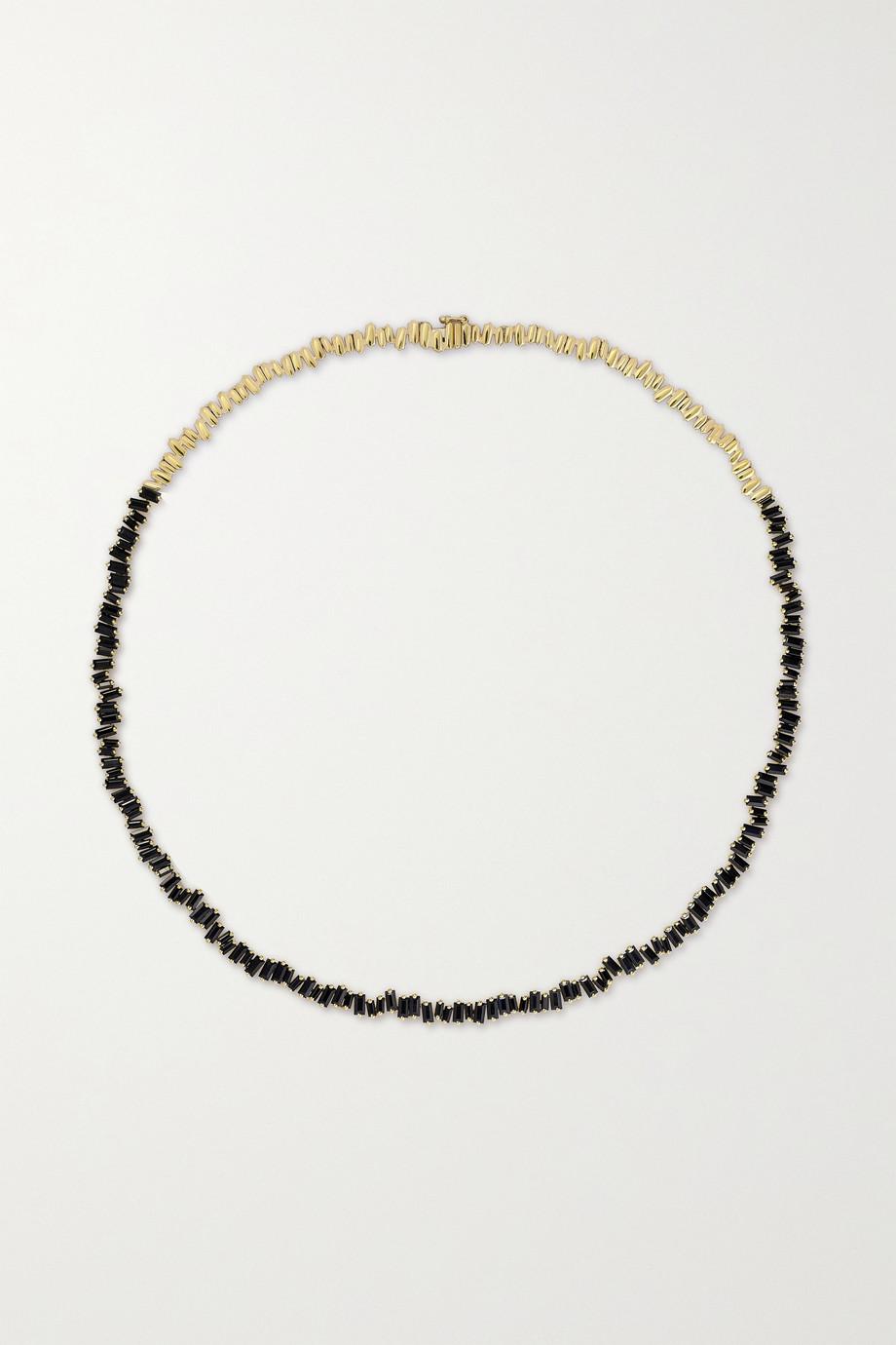 Suzanne Kalan 18-karat gold sapphire necklace