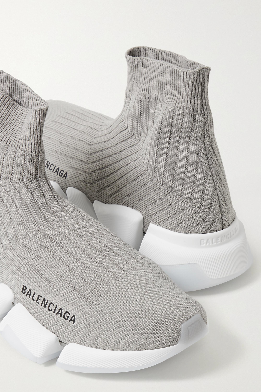 Balenciaga Baskets montantes en mailles stretch côtelées Speed 2.0