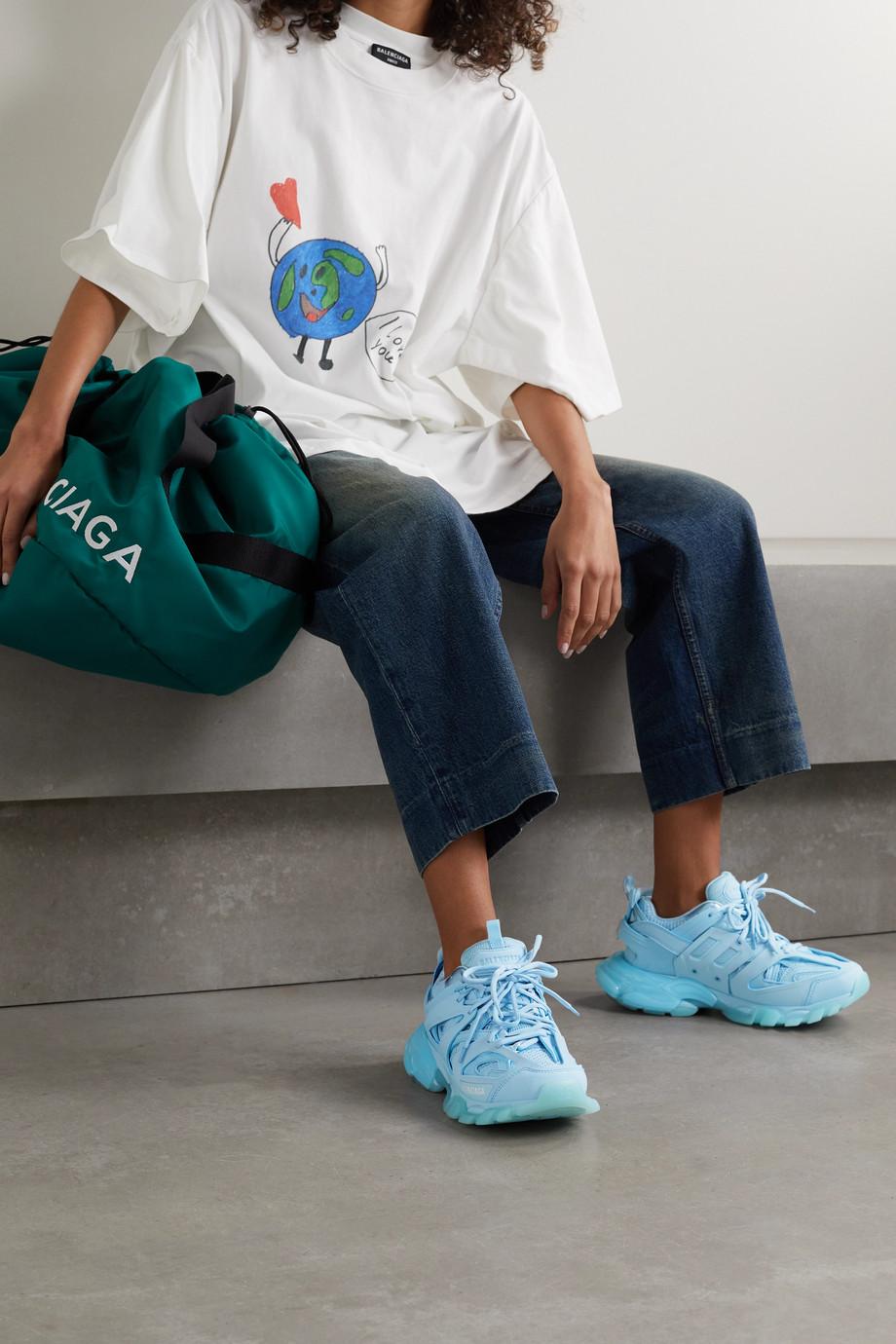 Balenciaga Baskets en résille et en caoutchouc à logo Track