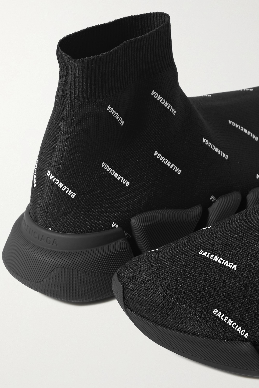 Balenciaga Baskets montantes en mailles stretch imprimées Speed 2.0
