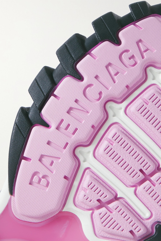 Balenciaga Baskets en résille et en caoutchouc métallisé à logo Track 2