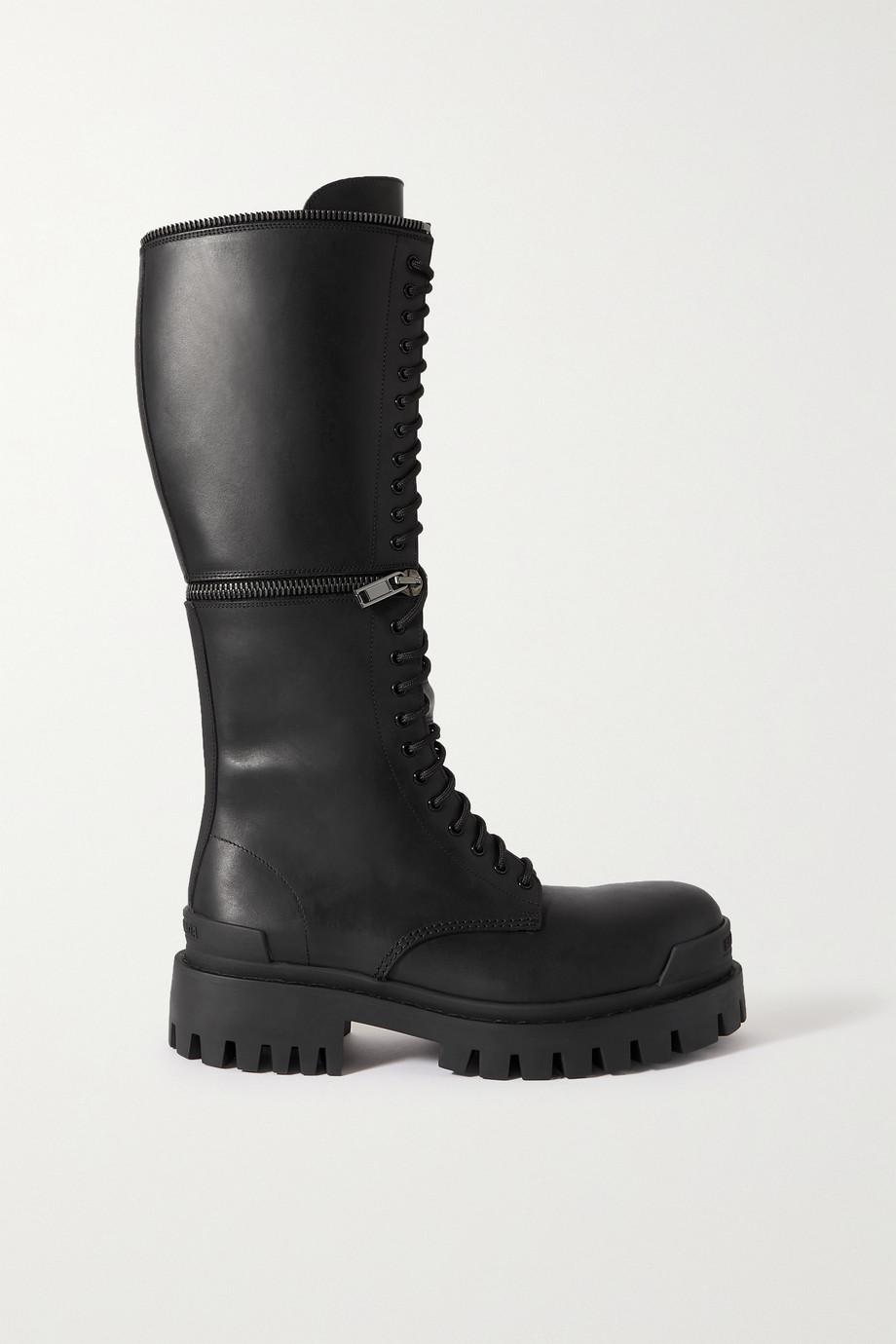 Balenciaga Convertible leather platform boots