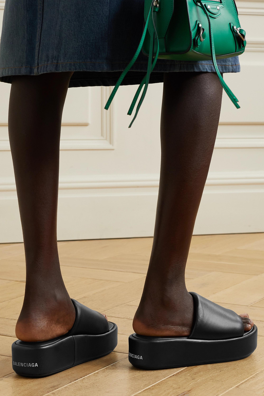 Balenciaga Sandales plates-formes en cuir Rise