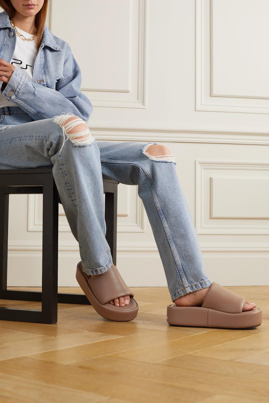 Balenciaga Rise leather platform sandals