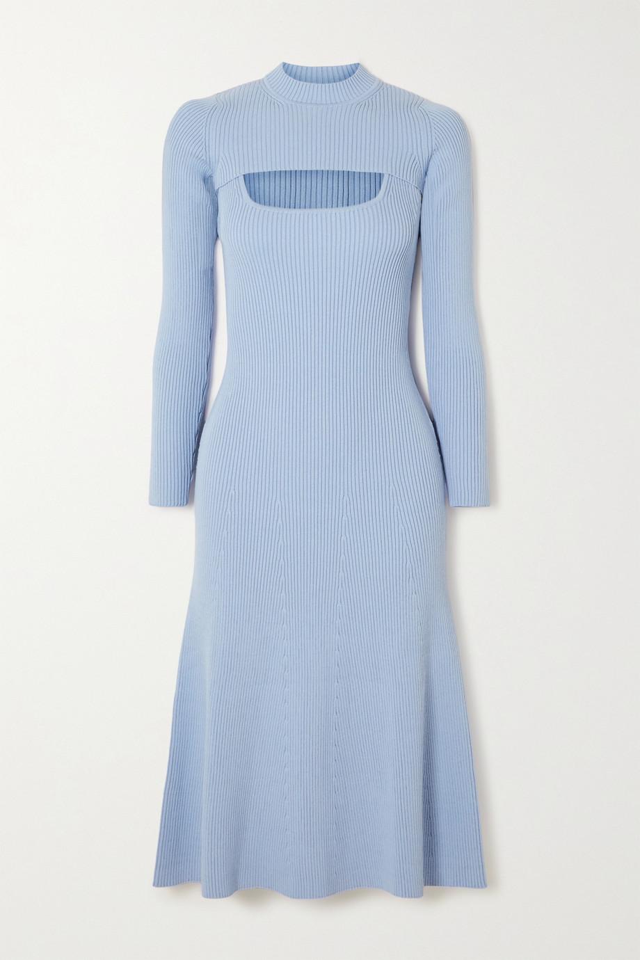 Safiyaa Sabel convertible ribbed-knit midi dress