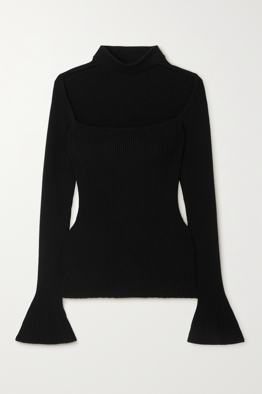 Safiyaa Lou Pullover aus Rippstrick mit Cut-out