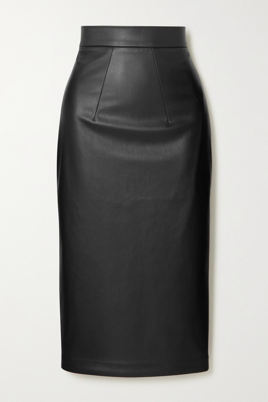 Safiyaa Jupe en cuir synthétique Hokoku