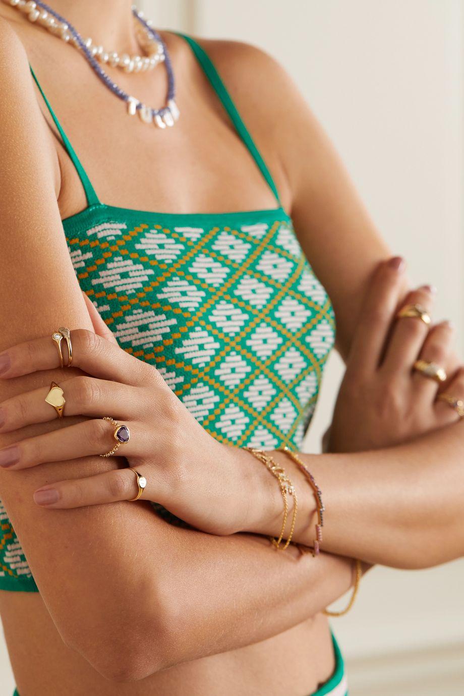 Roxanne First 14-karat gold amethyst ring