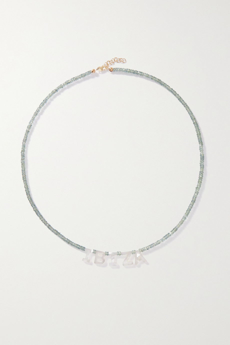 Roxanne First Ibiza gold, sapphire and mother-of-pearl necklace
