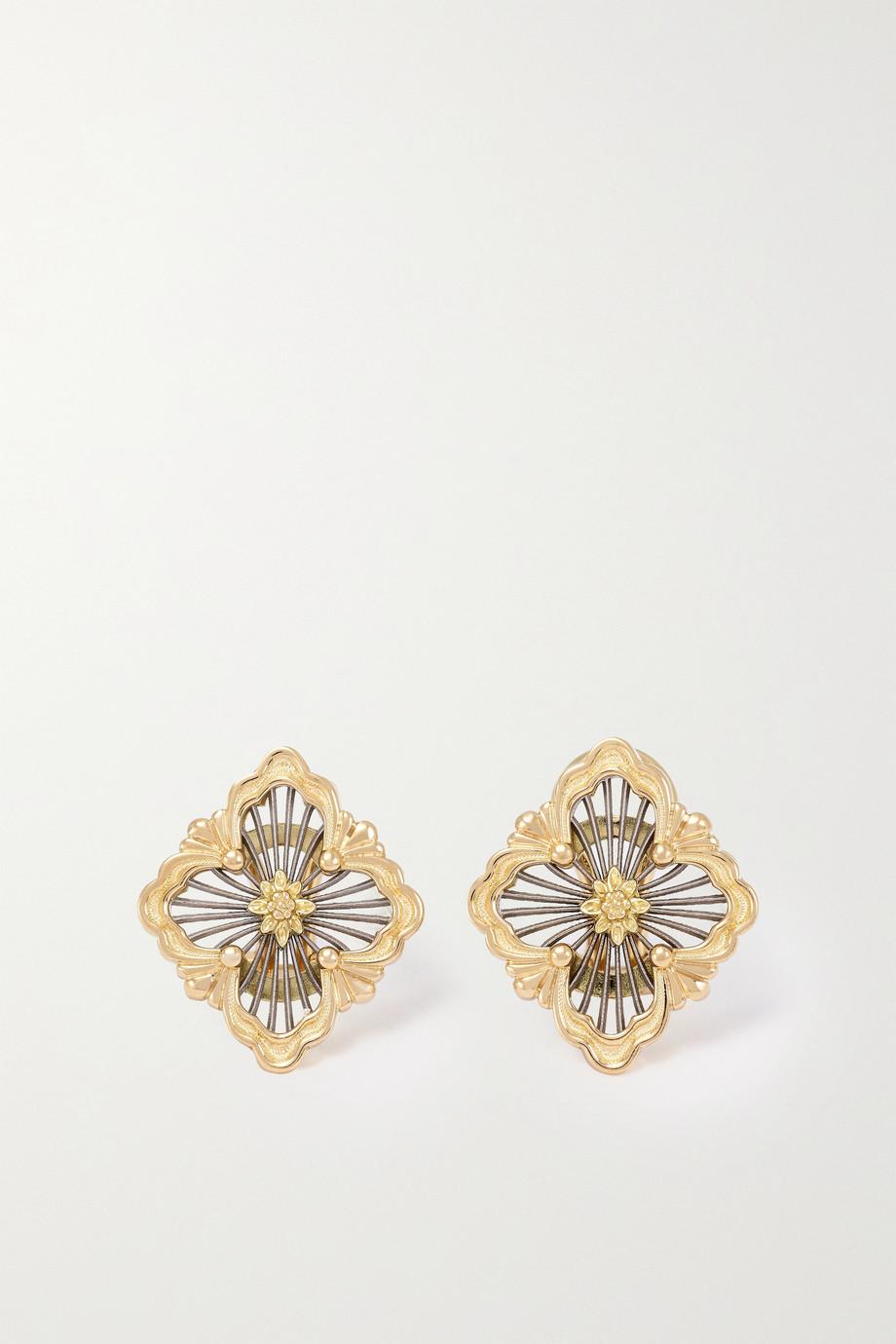 Buccellati Opera Tulle 18-karat yellow and white gold earrings