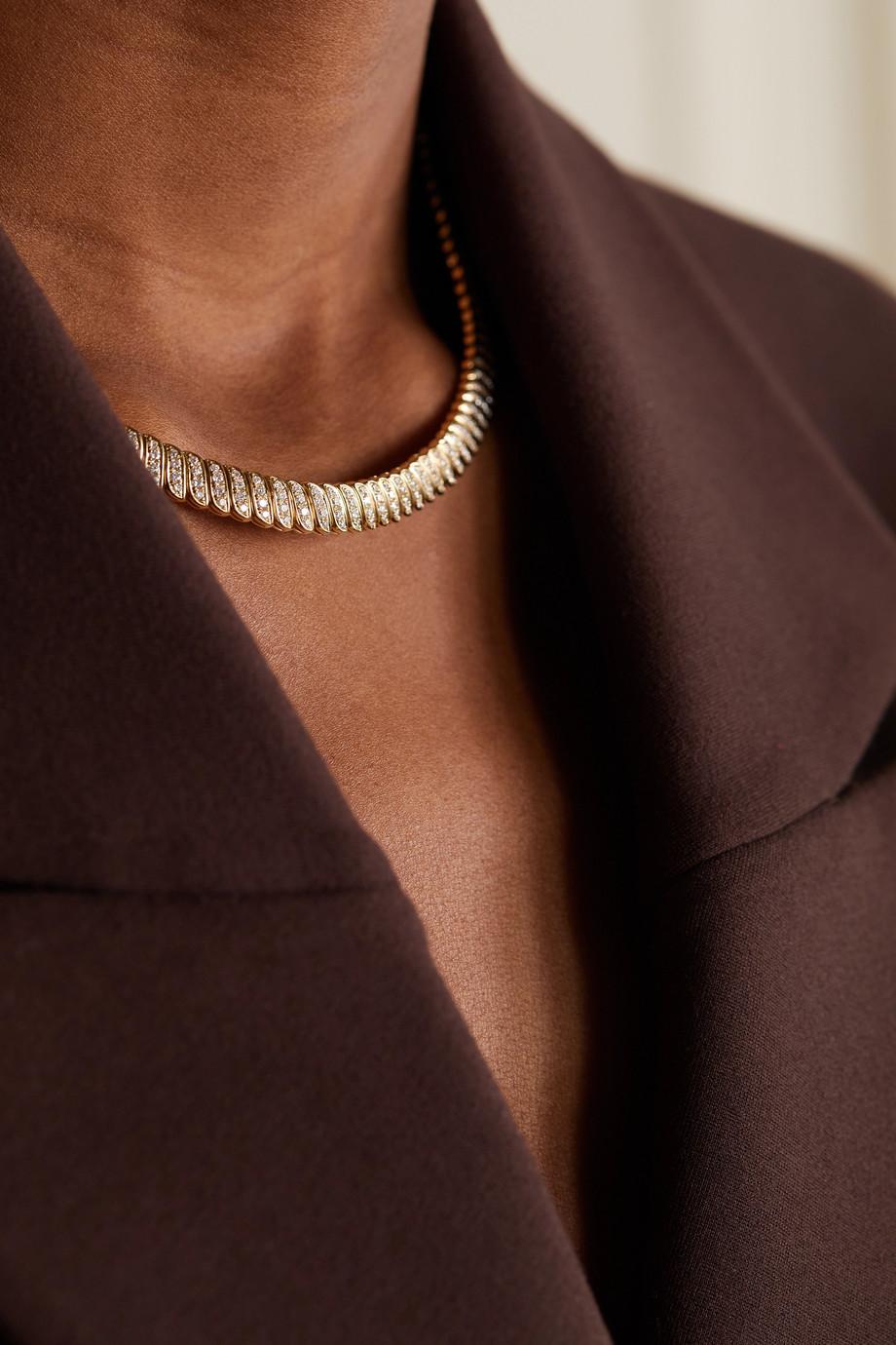 Anita Ko Tour de cou en or 18 carats (750/1000) et diamants Zoe
