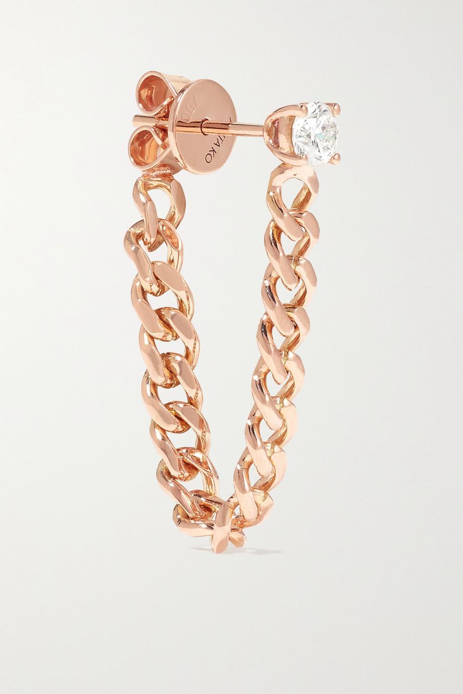 Anita Ko Boucle d'oreille unique en or rose 18 carats (750/1000) et diamant