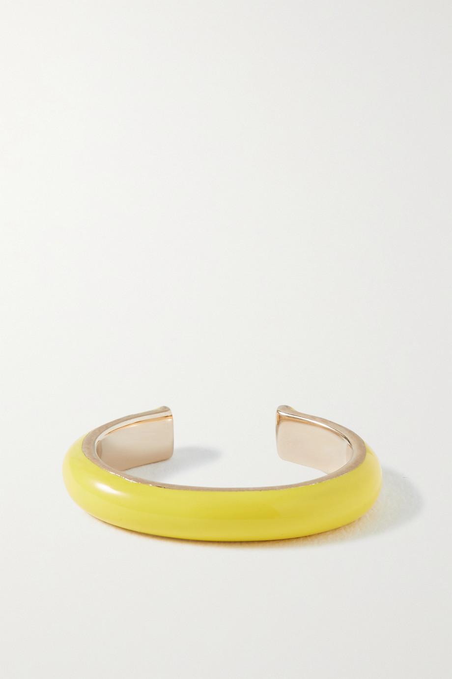Fry Powers Unicorn Rainbow gold and enamel ear cuff