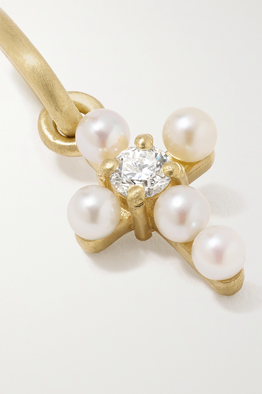 Irene Neuwirth Gumball Anhänger aus 18 Karat Gold mit Perlen und Diamant