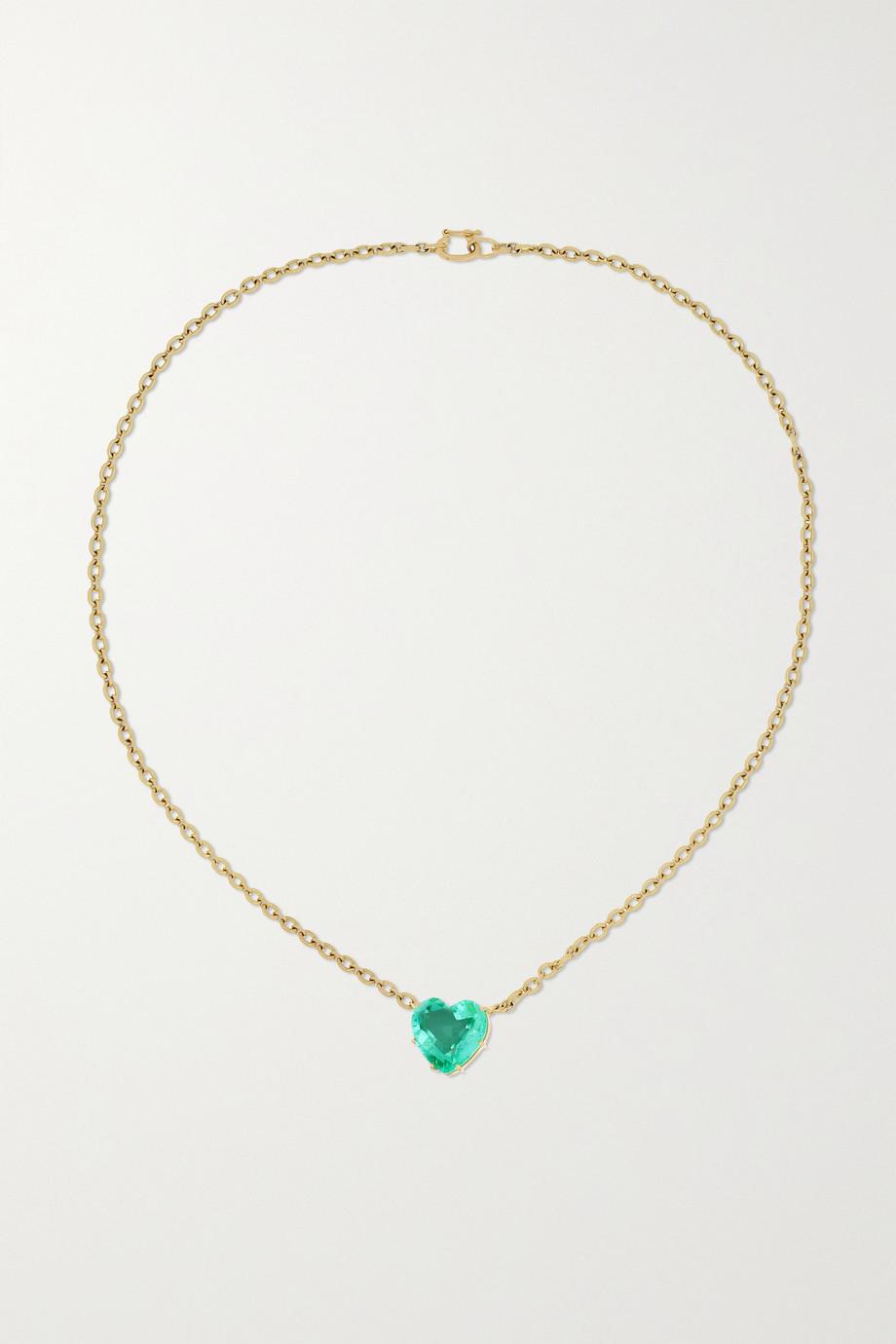 Irene Neuwirth Love Kette aus 18 Karat Gold mit Smaragd