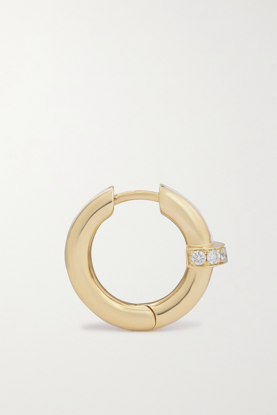State Property Idris Minor 18-karat gold, enamel and diamond hoop earrings