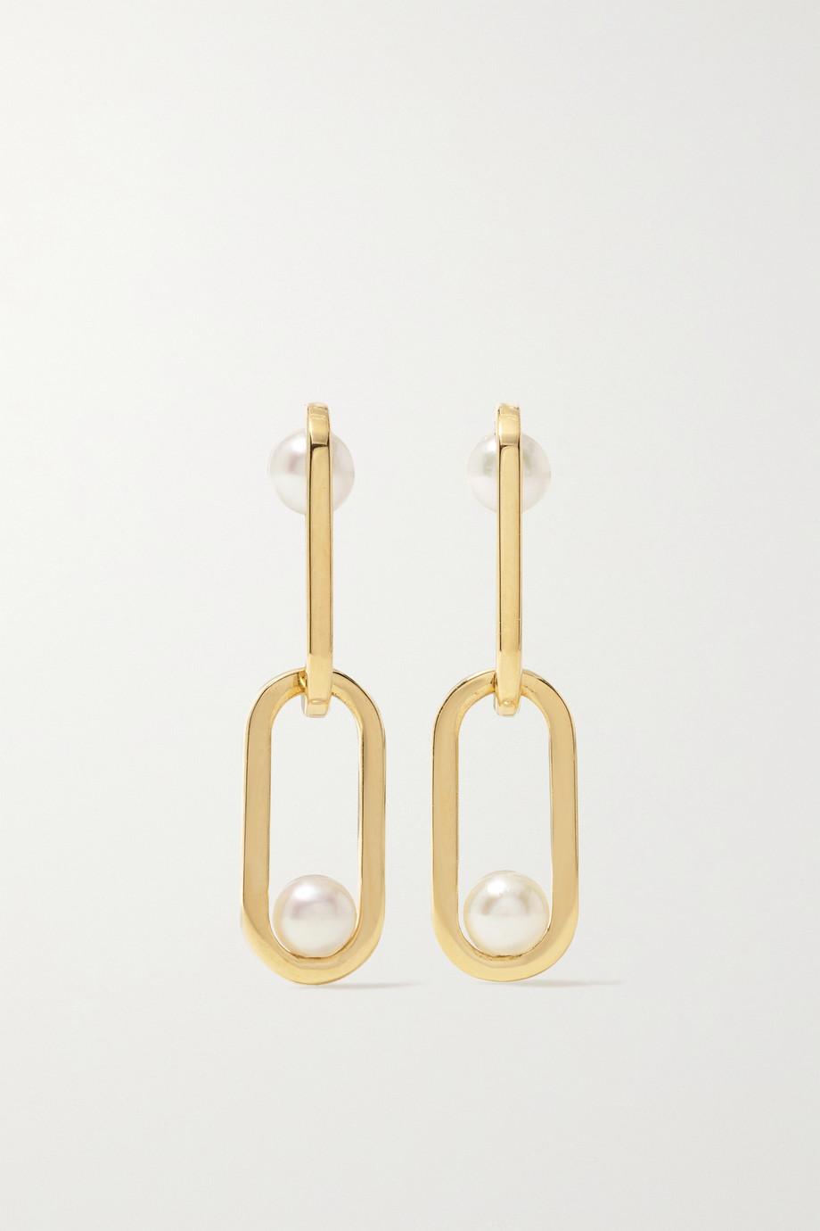 State Property Inversion Ohrringe aus 18 Karat Gold mit Perlen