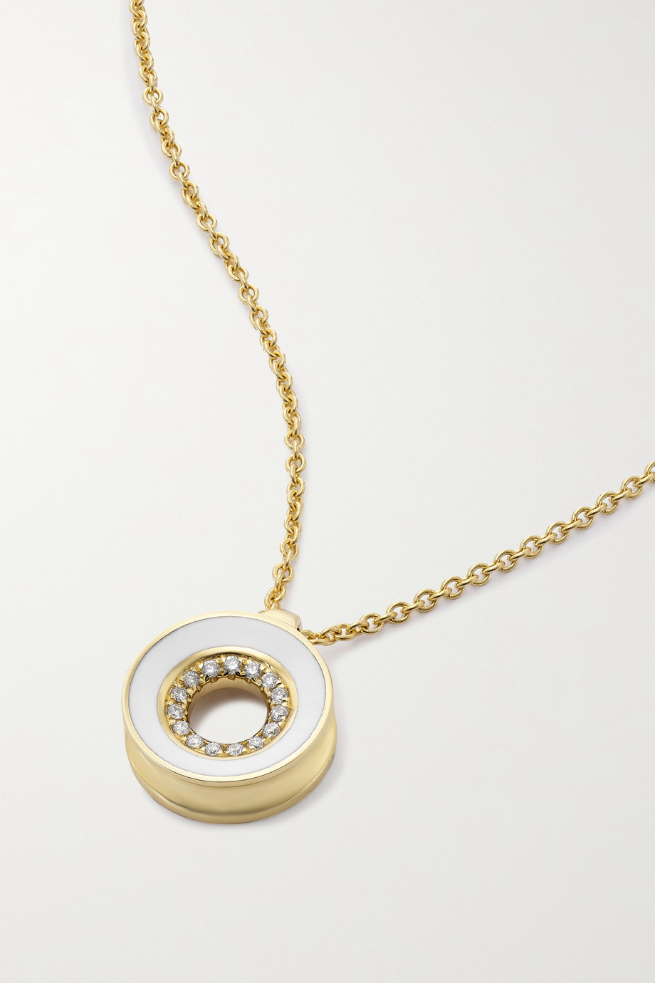 State Property Rinzo 18-karat gold, enamel and diamond necklace