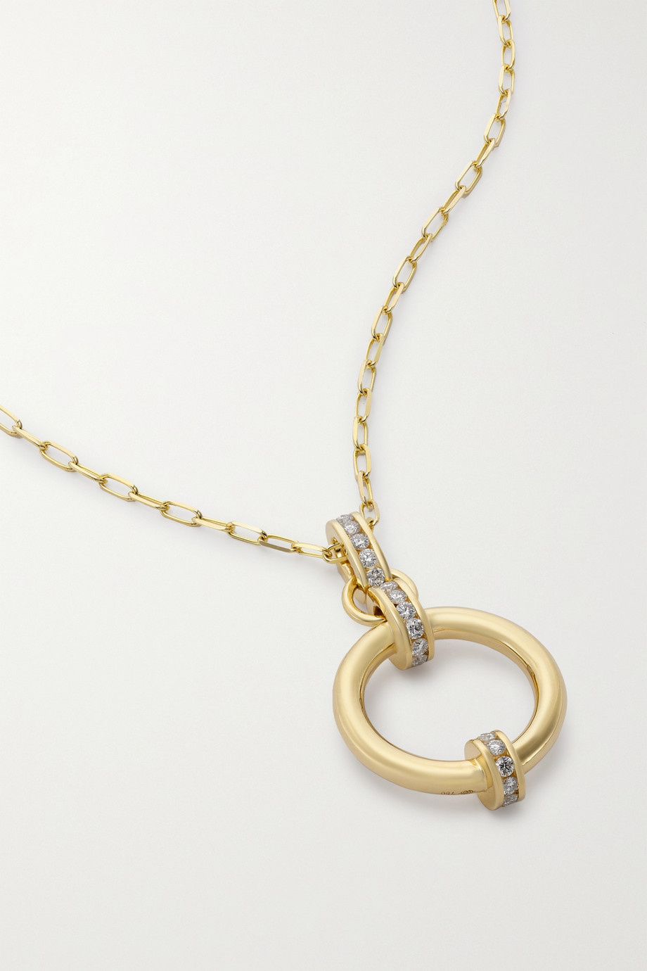 State Property Idris 18-karat gold diamond necklace