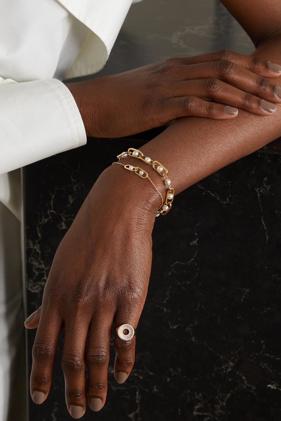 State Property Inversion Armband aus 18 Karat Gold mit Perlen