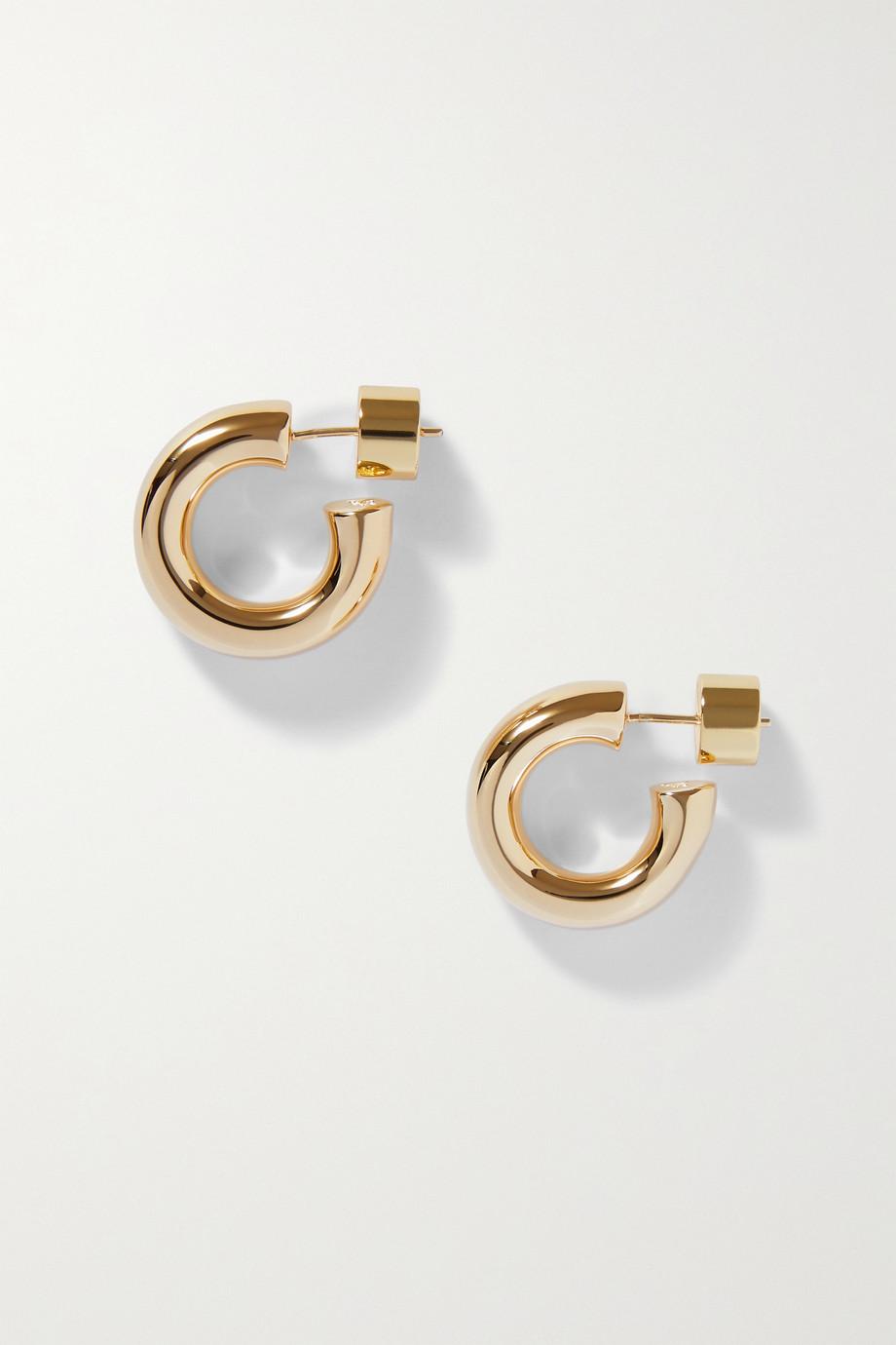 Jennifer Fisher Micro Natasha gold-plated hoop earrings