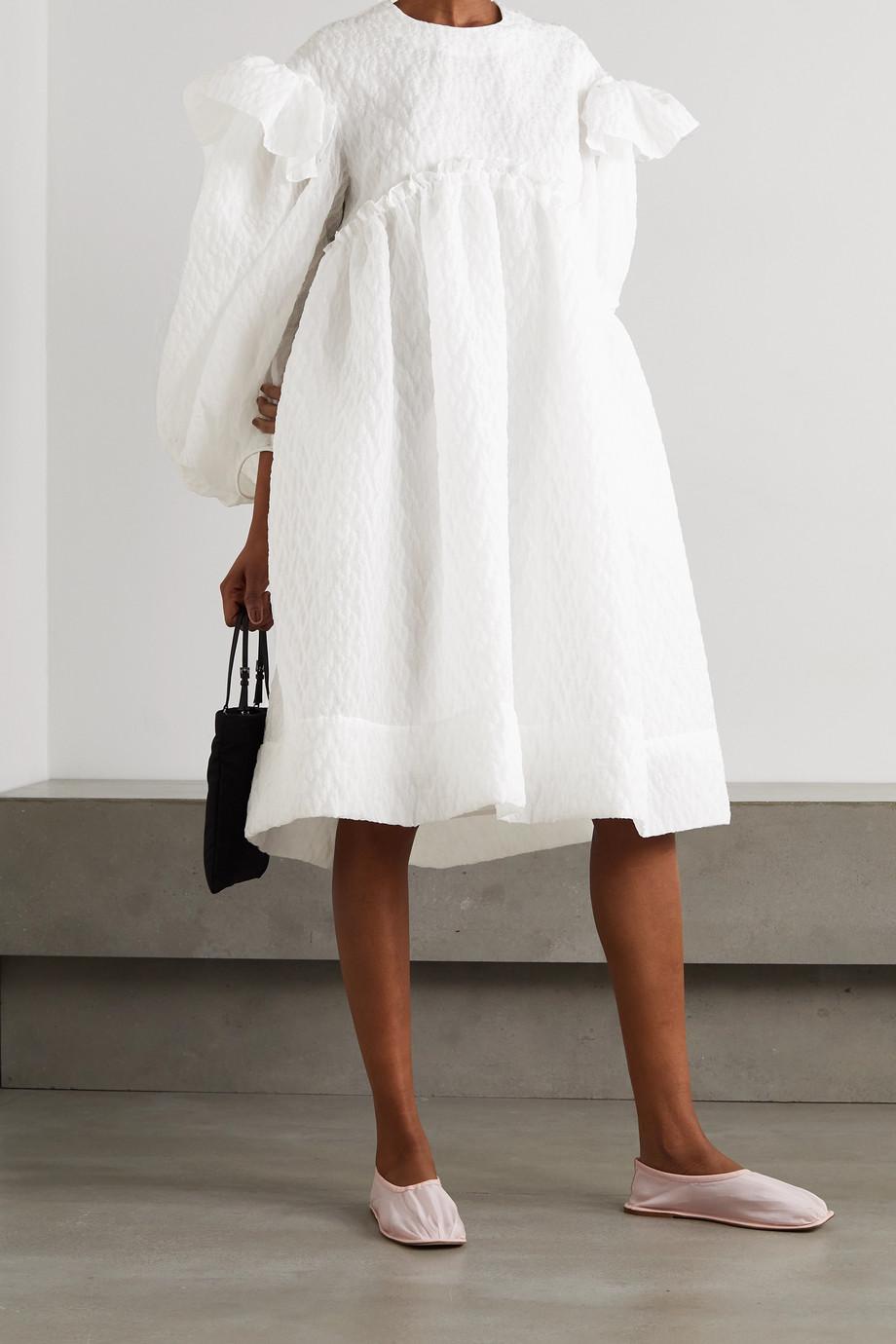 Simone Rocha Oversized ruffled cloqué dress