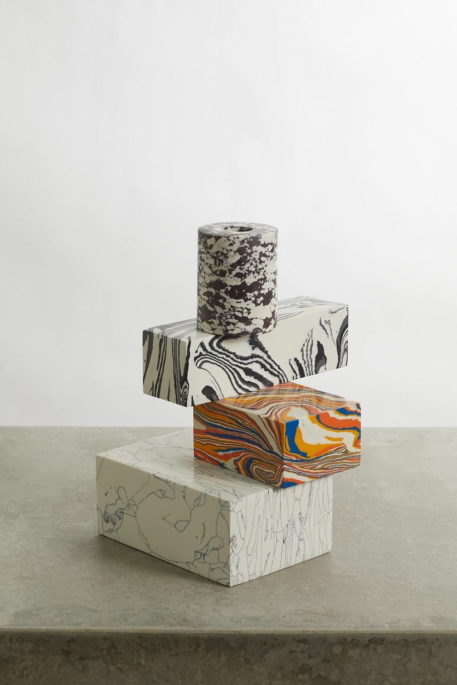 Tom Dixon Bougeoir en marbre recyclé Swirl