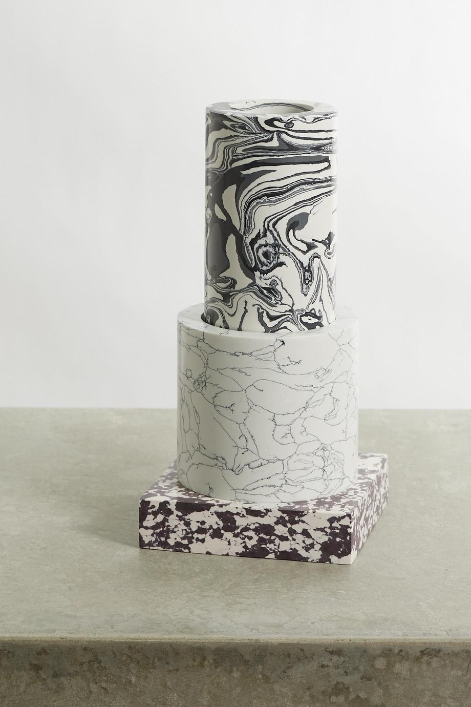 Tom Dixon Vase en marbre recyclé Swirl Small