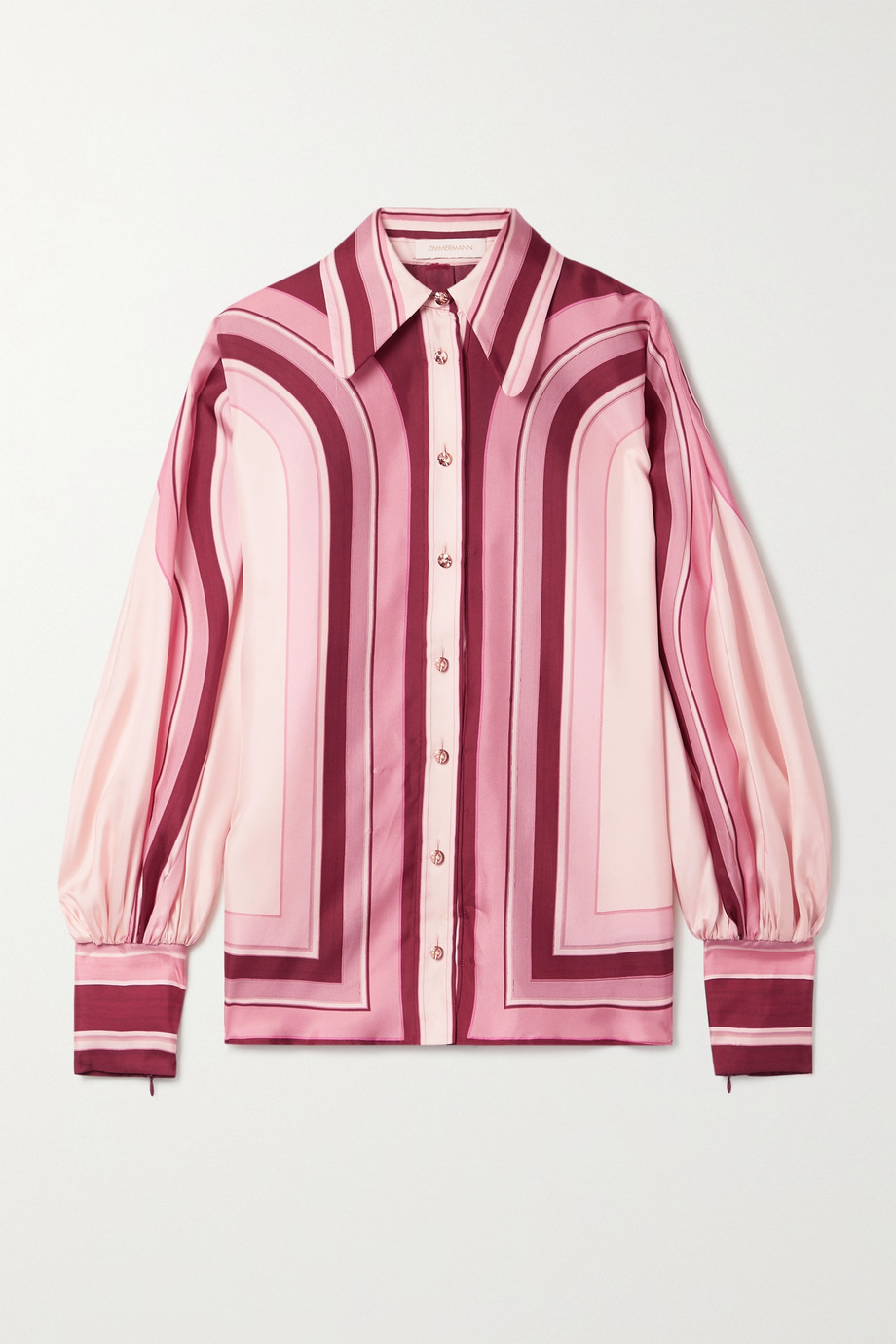 Zimmermann Concert striped silk-twill shirt