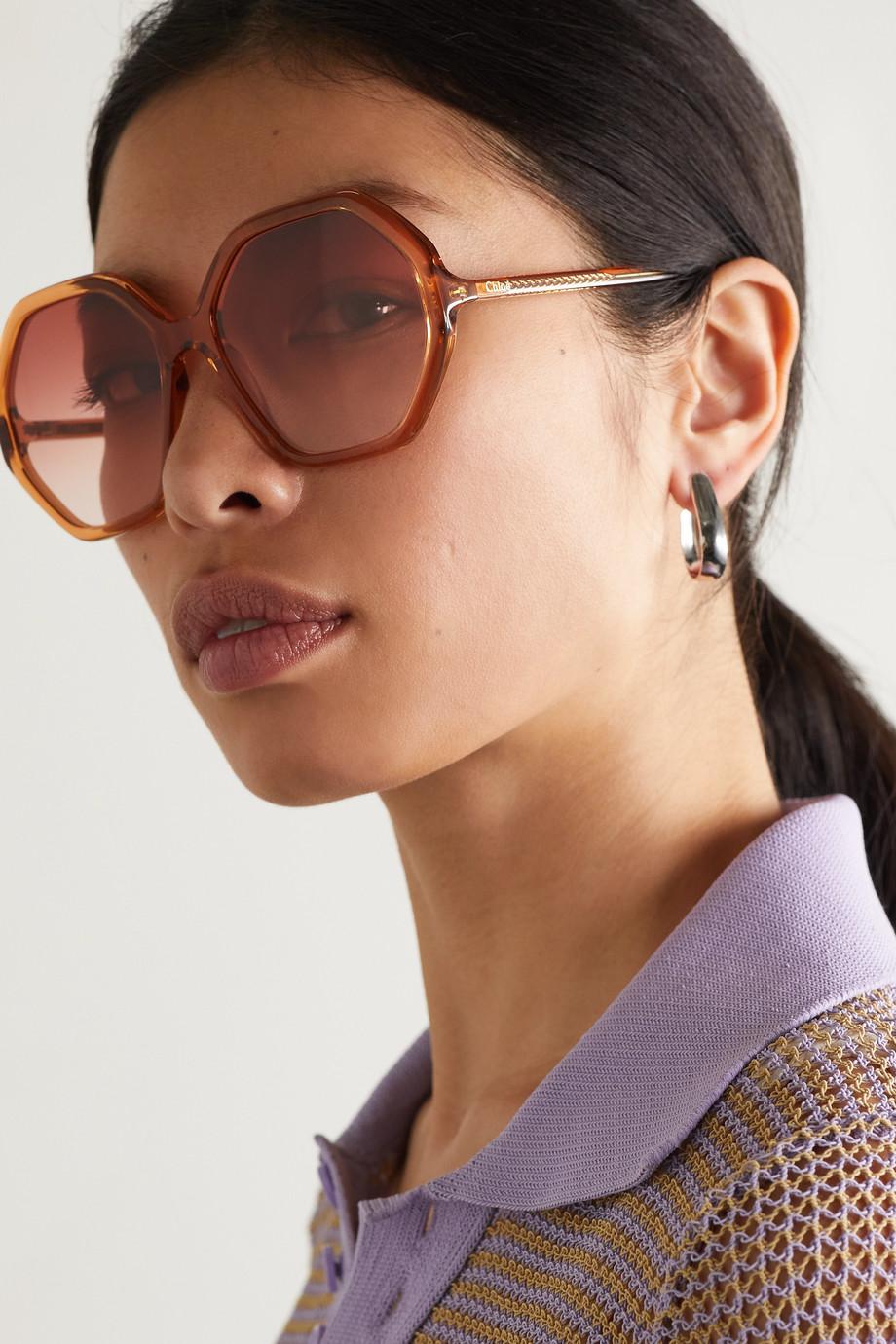 Chloé Esther Sonnenbrille mit achteckigem Rahmen aus Azetat