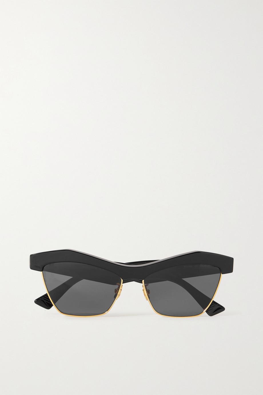Bottega Veneta Cat-eye acetate and gold-tone sunglasses
