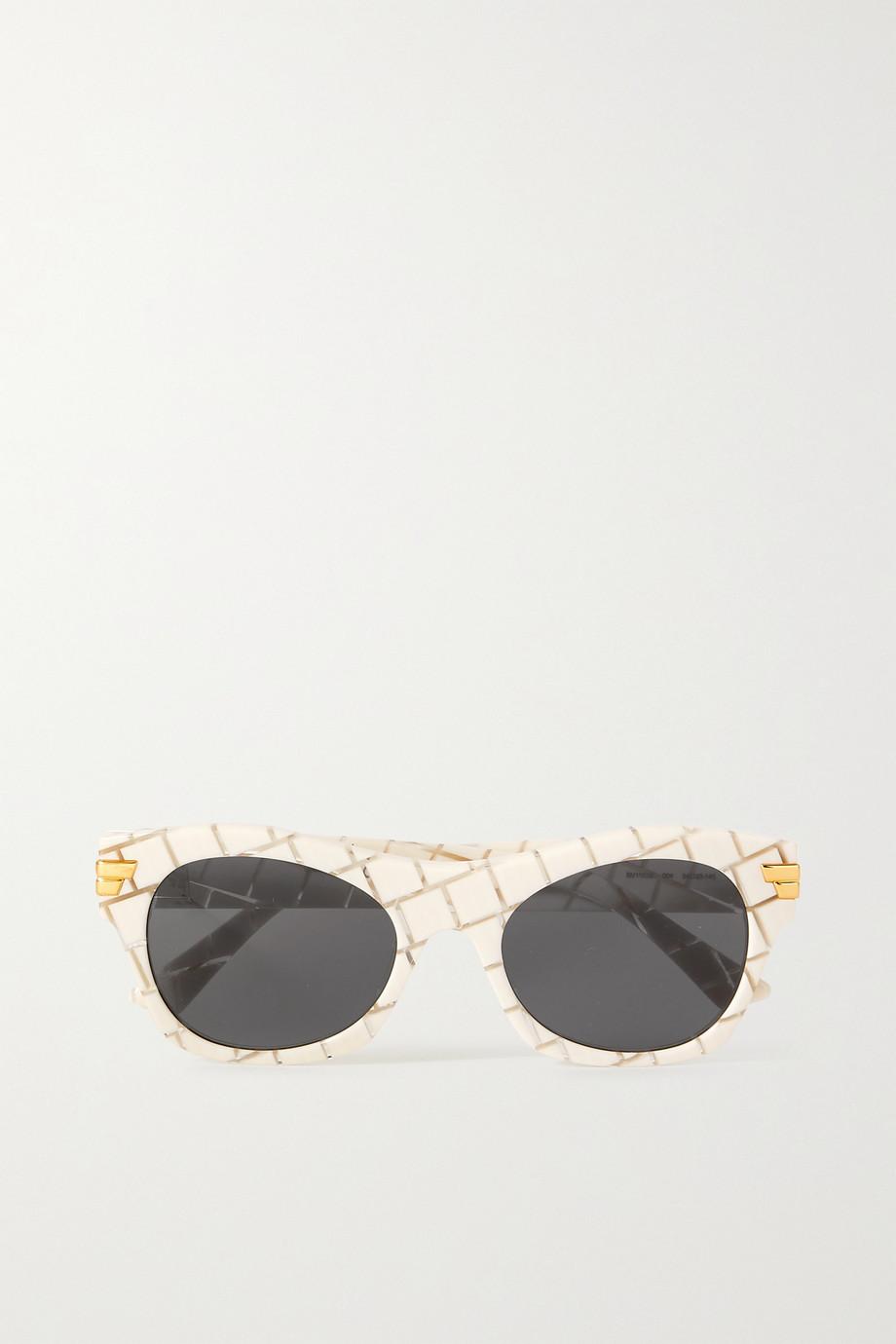 Bottega Veneta Square-frame intrecciato acetate sunglasses