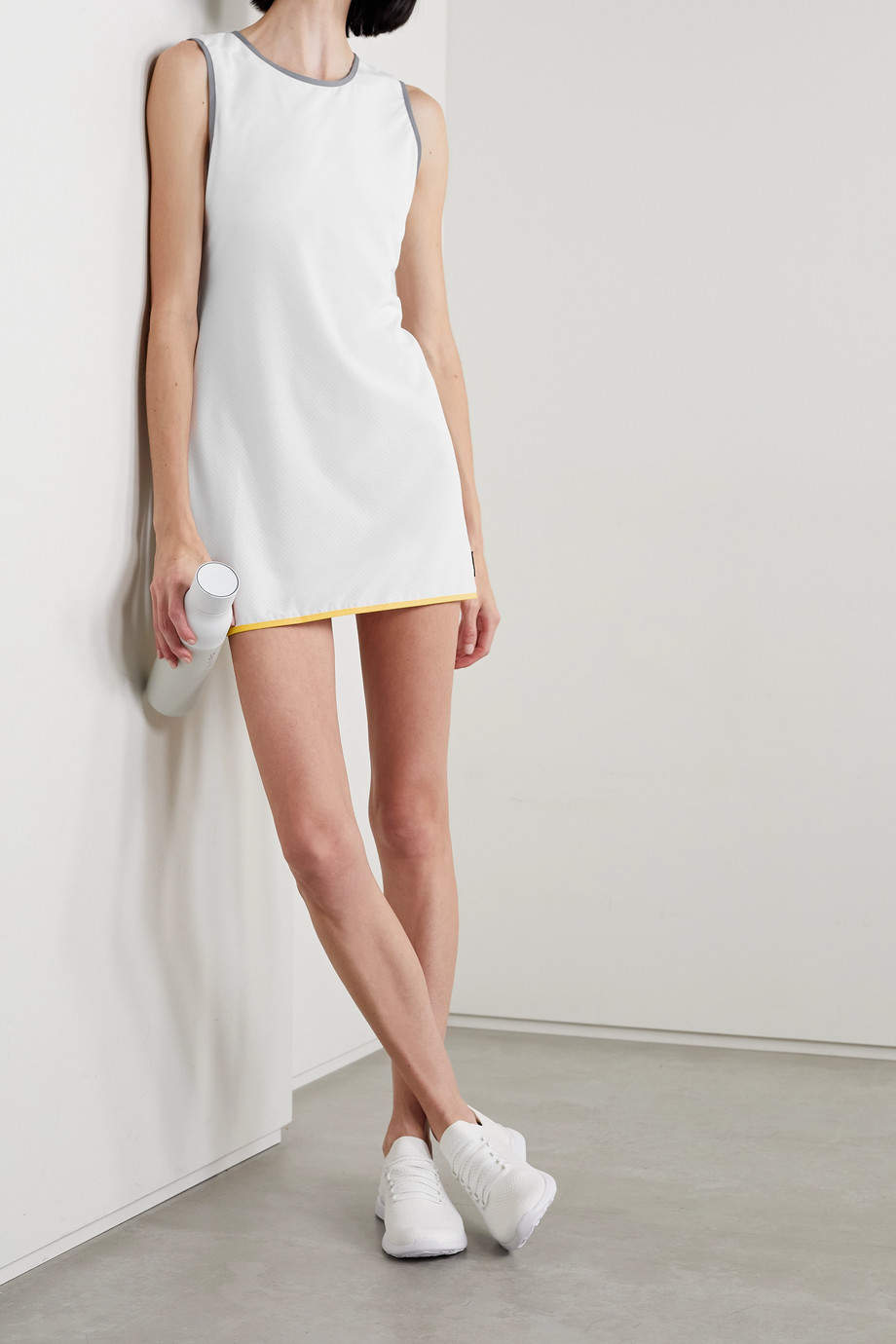 FULL COURT SPORT Perforated stretch-jersey tennis dress