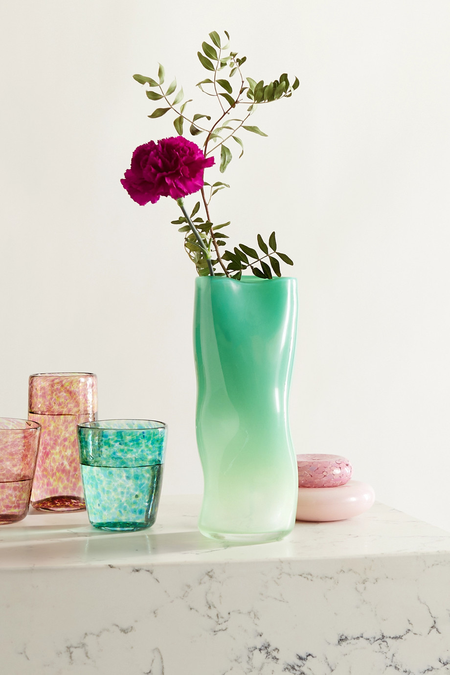 Vanderohe Curio Kleine Vase aus Glas mit Farbverlauf