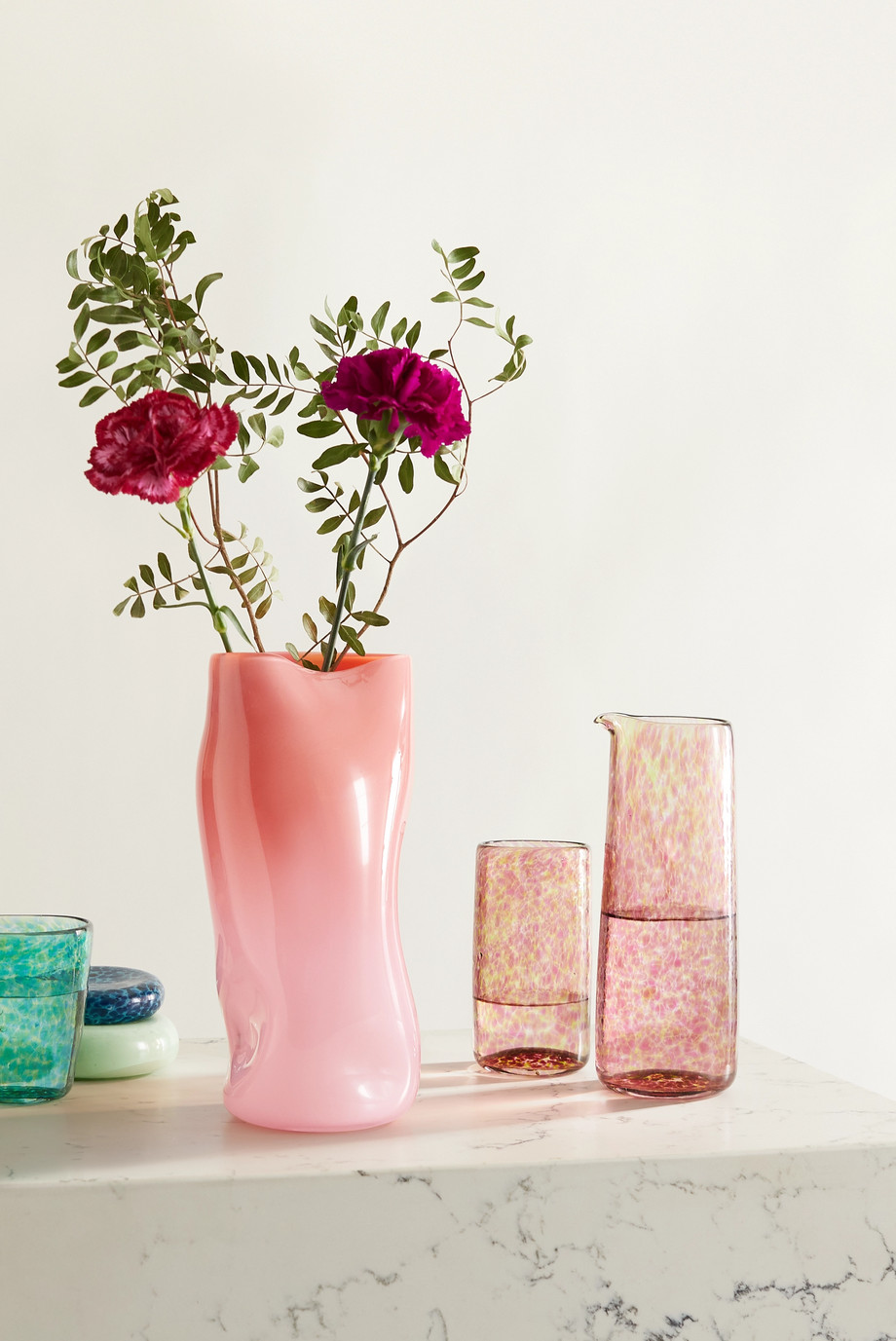 Vanderohe Curio Große Vase aus Glas mit Farbverlauf