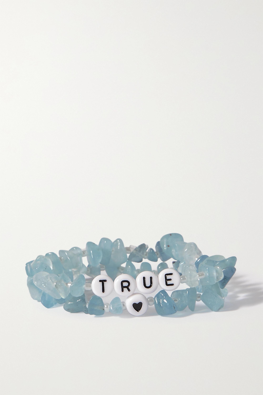 TBalance Crystals Set de deux bracelets en aigues-marines et émail