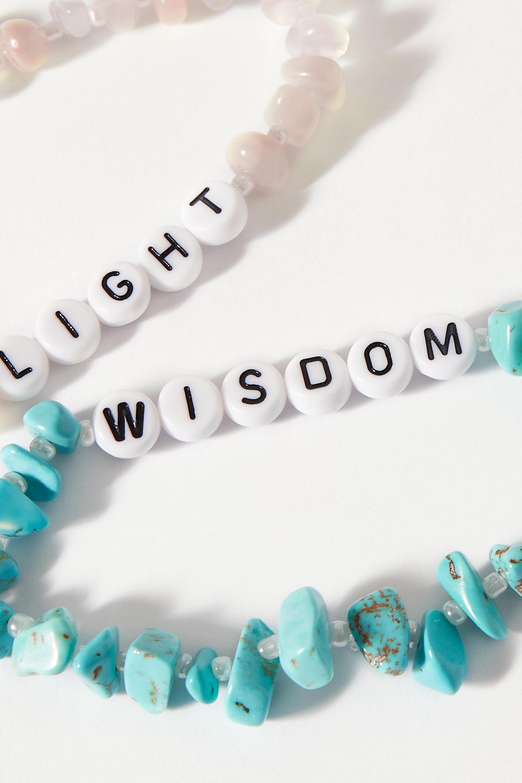 TBalance Crystals Set de deux bracelets en turquoises, pierres de lune et émail