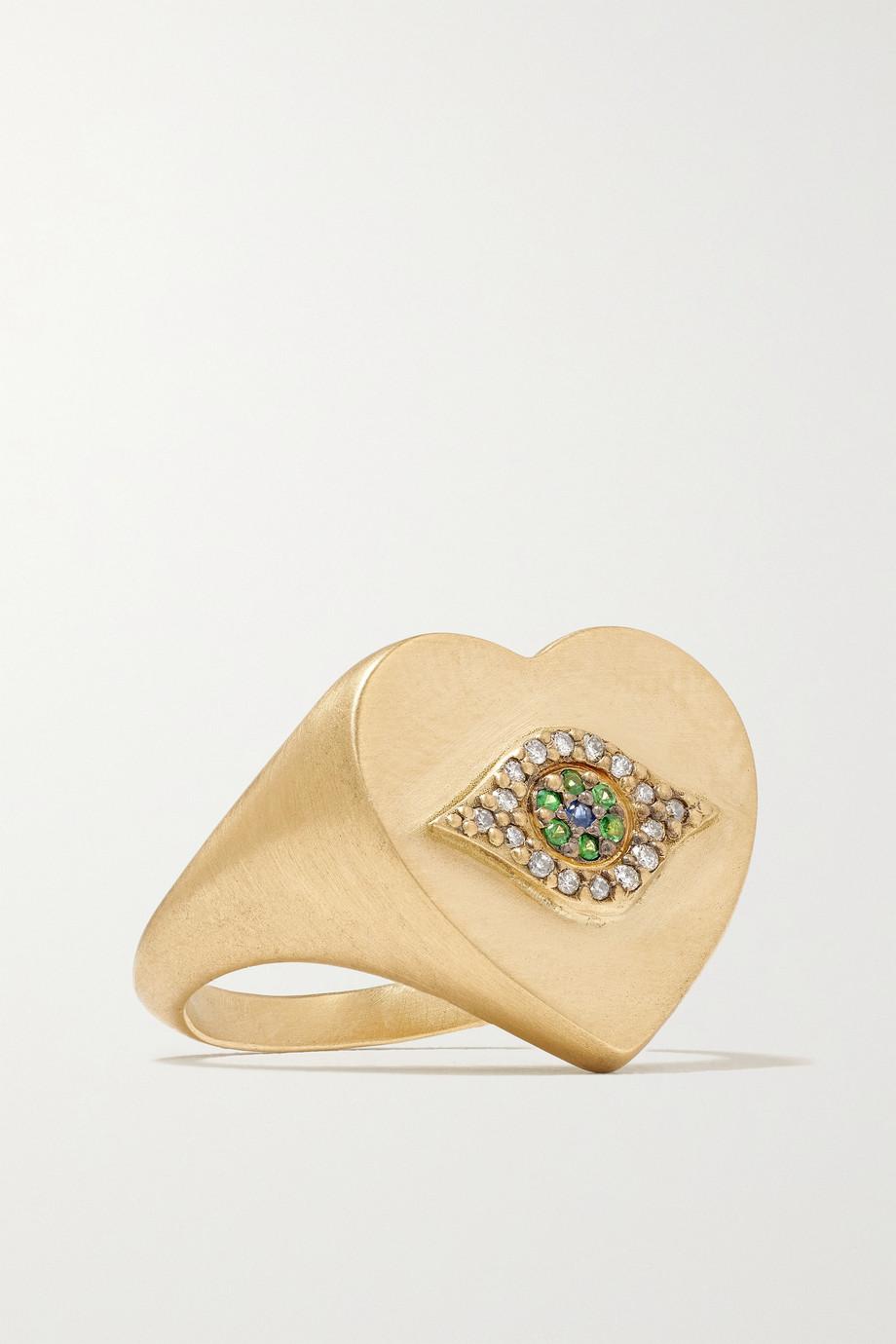 Ileana Makri Golden Dawn 18-karat gold multi-stone ring