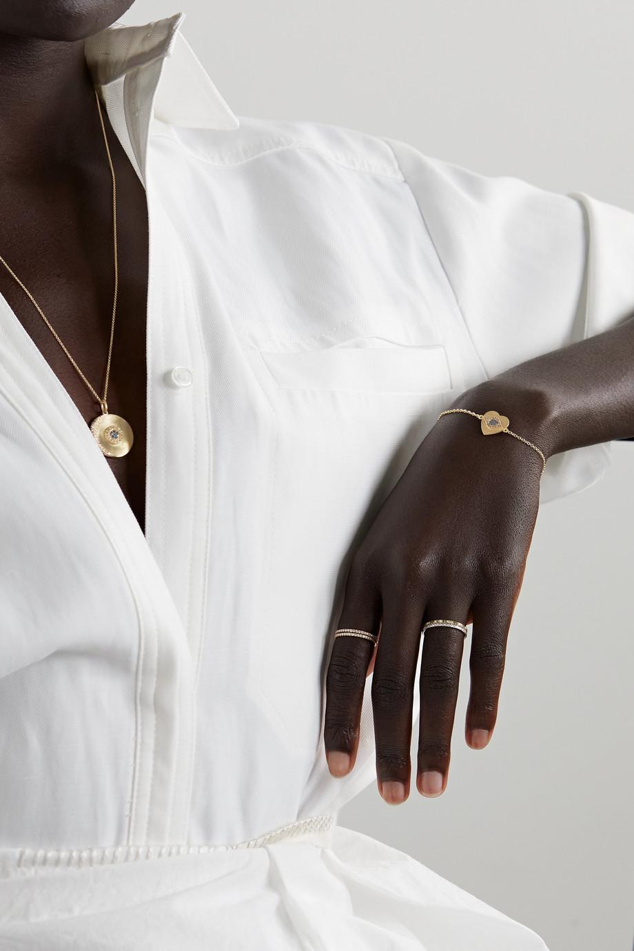 Ileana Makri Golden Dawn Armband aus 18 Karat Gold mit mehreren Steinen