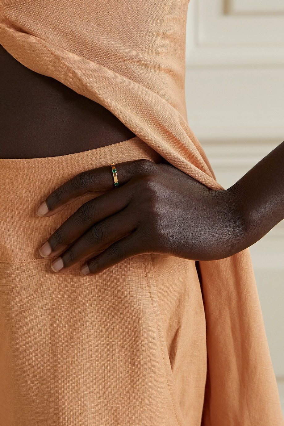 Ileana Makri Stepping Stones Stream 18-karat gold emerald ring