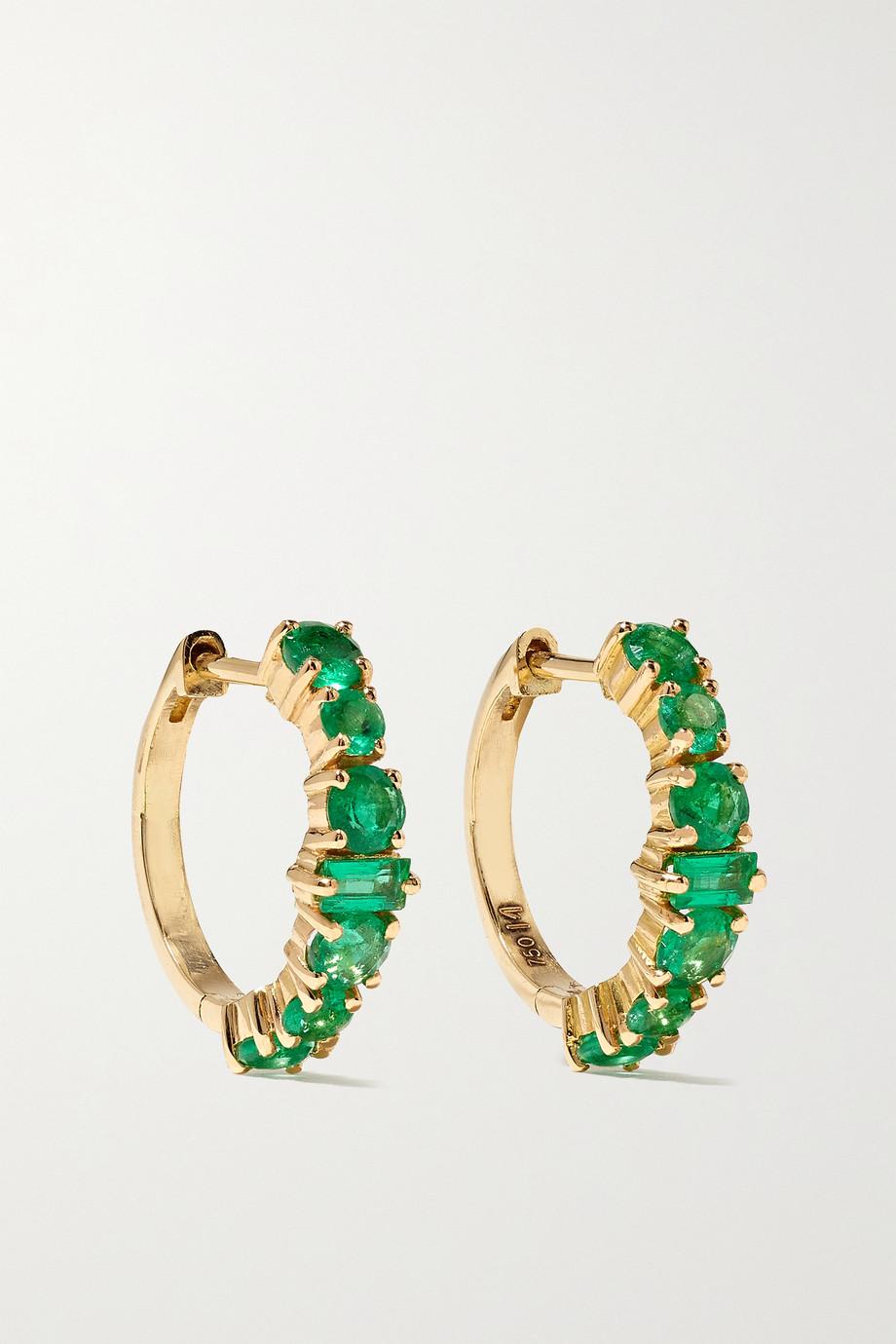 Ileana Makri Creolen aus 18 Karat Gold mit Smaragden