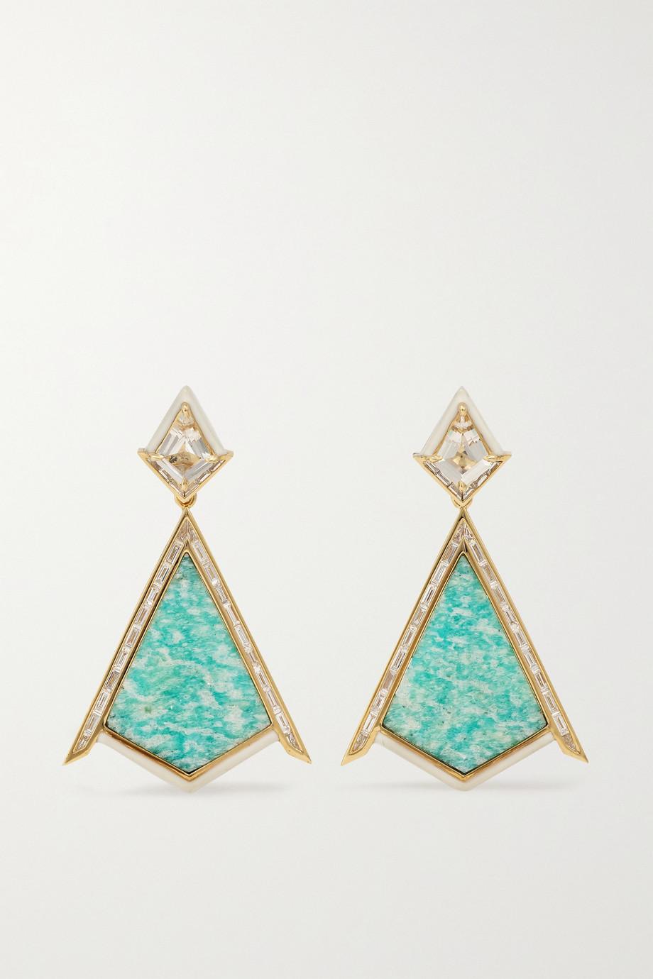Emily P. Wheeler Boucles d'oreilles en or 18 carats (750/1000) recyclé, émail et pierres multiples Twinkle - NET SUSTAIN