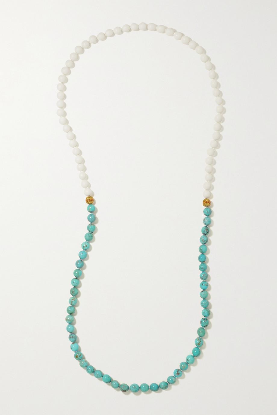 Emily P. Wheeler + NET SUSTAIN 18-karat recycled gold multi-stone necklace