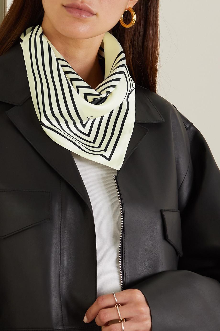lescarf No. 14 striped silk-twill scarf