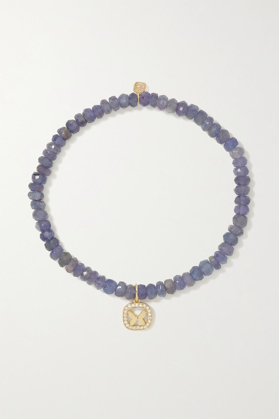 Sydney Evan Bracelet en or 14 carats (585/1000), tanzanites et diamants Butterfly