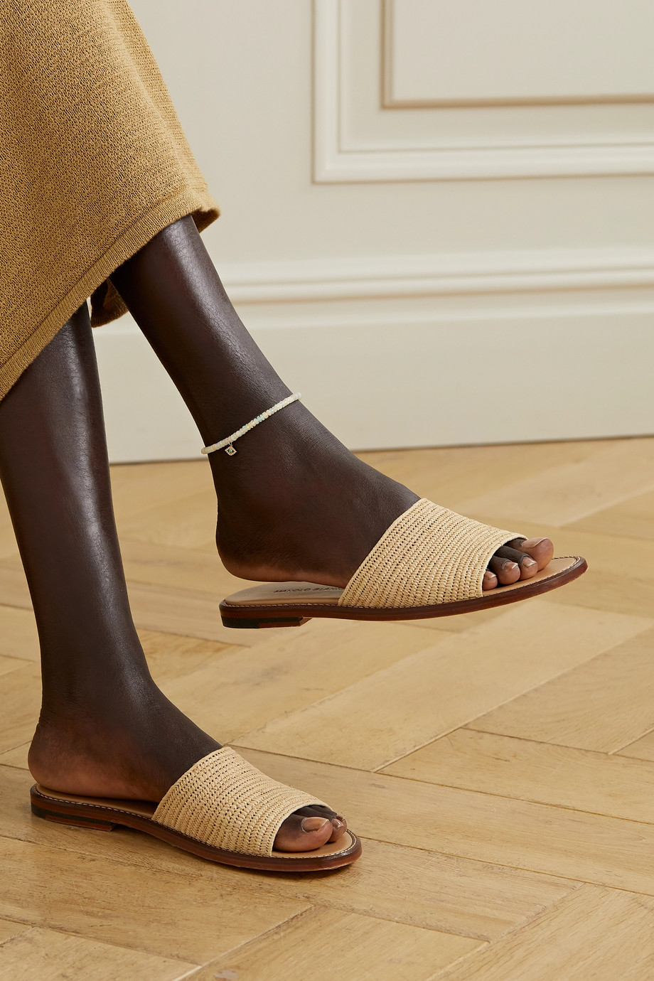 Sydney Evan 14-karat gold multi-stone anklet