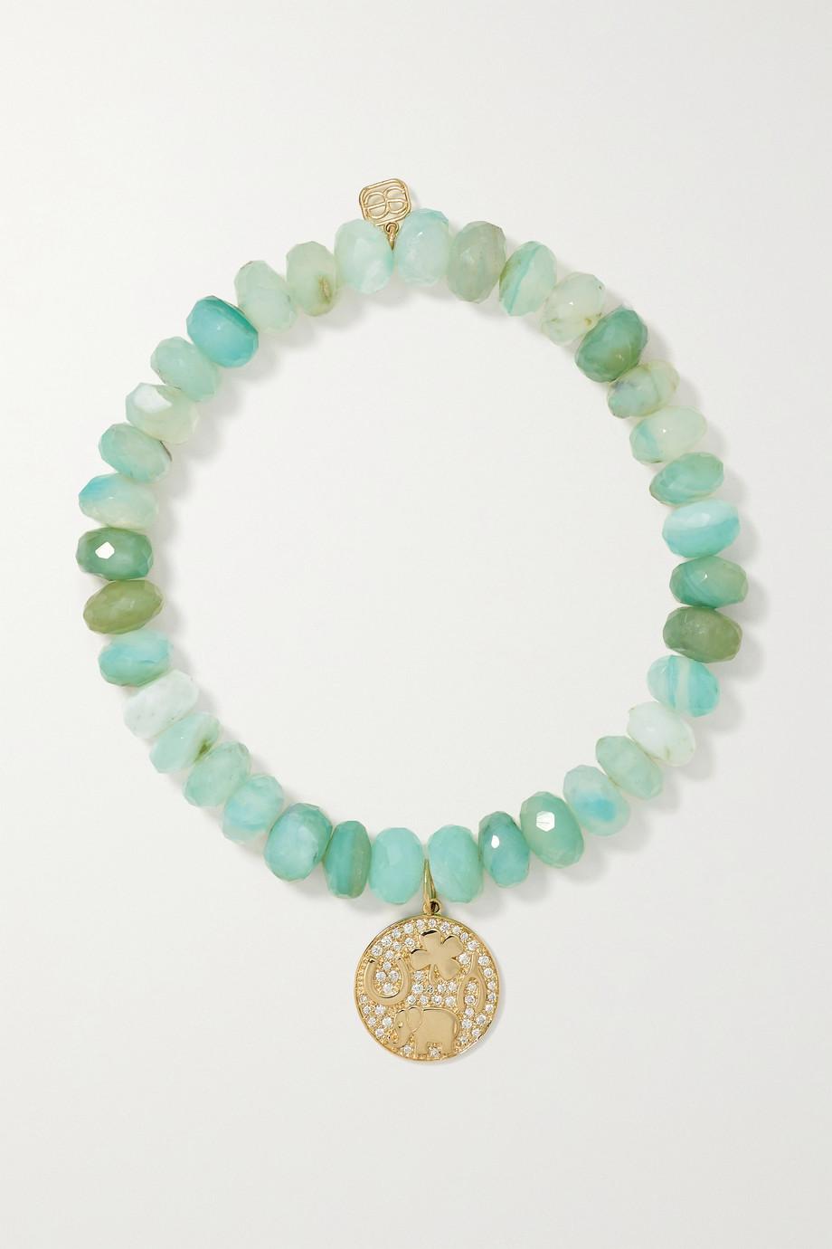 Sydney Evan Bracelet en or 14 carats (585/1000), opales et diamants Luck Tableau